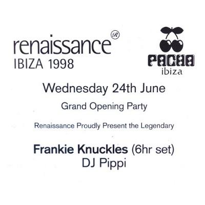 DJ Pippi Frankie Knuckles @ Pacha Memorial Evening